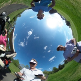 quick capture on the golf course - Karen, Amy and Geri and me #theta360