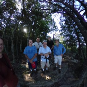Tuesday morning hikers in Fairview, Nc - the ridge between Rocky Point and Fergusen. #theta360 #theta360uk