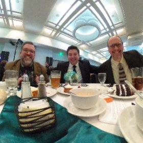 PR and @GRYMCA admin table for the @mwhof Guild induction. #askformary #J360 @benrisinger #theta360