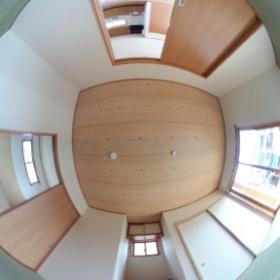 登米市木造災害公営住宅 平屋 和室  Thetaで撮影してみました~