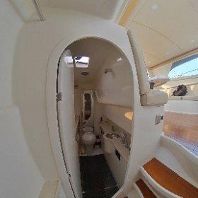 Bestyear Luxury catamaran motor yacht 38                      Toilet #theta360