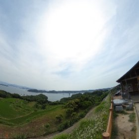 佐賀県加部島に架かる橋、呼子大橋を臨む VRでバイク旅 日本一周【46日目】http://www.merkurlicht.com #theta360