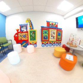 Outpatient pediatric waiting room. #rehabilitation #theta360