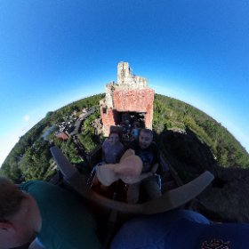 Take a look around Expedition Everest as we climb the big hill! #theta360