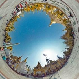 #myanmar #birmanie #yangon #shwedagon ##shwedagonPagoda #hatueyPhotographies #theta360 #theta360fr