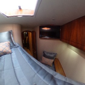 The forward bunkroom of the new Winter Custom Yachts 60 - Wolverine.