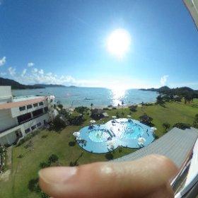 石垣島シーサイドホテルからの眺め #theta360