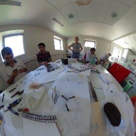 le workshop #cartoonist  @ipjdauphine et @ecole_artsDeco : bouclage en cours #theta360 #theta360fr