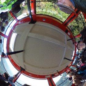 筑波山ロープウェイの中からです。 #theta360