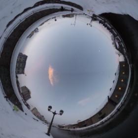 小樽運河、大晦日の様子でシータ。 #theta360