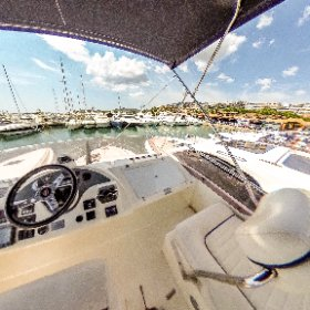 360 PHOTO: View from a yacht moored in Puerto Portals, Majorca, Spain, Tuesday. August 21, 2018. #theta360 #theta360uk