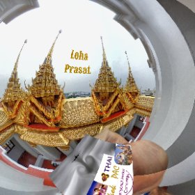 Wat Ratchanatdaram is an historical temple with a unique Metal Castle, in tour zone Rattanakosin Old city Bangkok, SM hub http://goo.gl/cc2l86  BEST HASHTAGS  #WatRatchanatdaram #BkkTemple #ZoneRattanakosin #BkkAchiever #butterfly3d