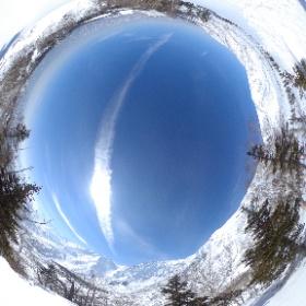 北アルプス 栂池高原 ヤセ尾根にて #theta360