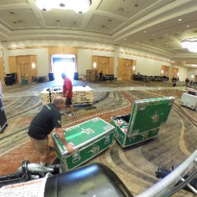 The truss is in place and show is loading in. The fun begins! #showproduction  #theta360
