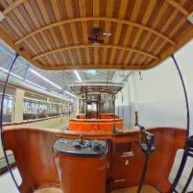 Historischer Straßenbahnwagen 309 im Straßenbahnmuseum Dresden #theta360