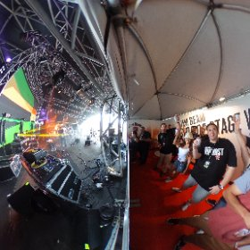 VIP Side of stage at Jim Beam Dub & Roots Stage! #HG16 #theta360