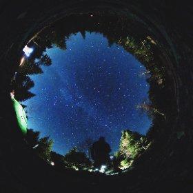 八ヶ岳・オーレン小屋 テン場からの星空 VSCO sasurau 加工バージョン