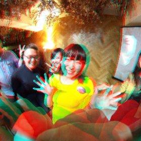 なっちゃんの笑顔3DVR(アナグリフ) #theta360