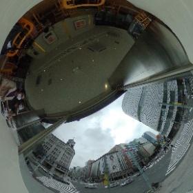 Una vista en 360 grados de Ginza Crossing desde Le CafeDoutor #JaponATB #theta360
