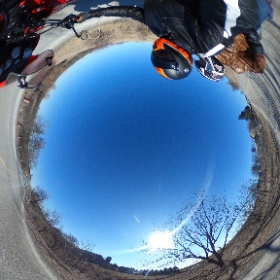 Cold, easly spring #Triumph ride #theta360