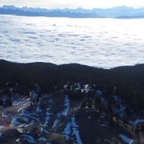 Mont Blanc from La Dôle #theta360