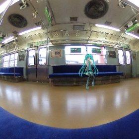 #miku360 梅小路の鉄道博物館へ行ってきたよ! #theta360