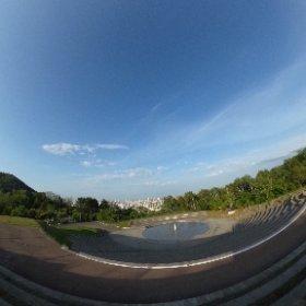 旭山公園 噴水 #theta360