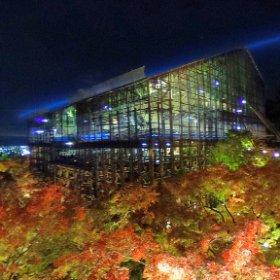 ミクシータ×夜景×清水寺(改修中)×紅葉 こんな清水の舞台、初めて見た! #miku360