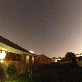 Captured an Iridium Flare in Cygnus with the 360 degree camera. #theta360
