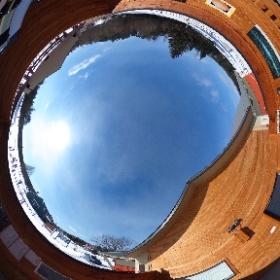 Pavillon d'astronomie Velan au Domaine St-Bernard, Tremblant, Québec, Canada Observation du Soleil, de Vénus et de la Lune de jour. 4 mars 2017 Température : -16°C #theta360 #theta360fr