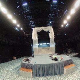 舞台の設営をしています。 #theta360