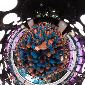 Our annual conference group shot. That's a lot of people to corral 😮 #dream vacations #believeconference #theta360