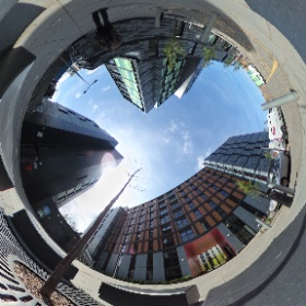 Bainfield Drive - student flats beside Gibson Terrace and the canal #theta360