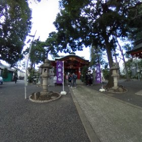久が原西部八幡神社。 #theta360