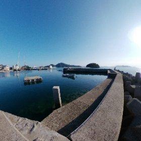 鞆の浦 平港の朝シータ #鞆の浦 #theta360