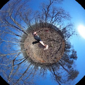 Shot at the top of Sugarloaf Mountain Trail, Morrow Mountain State Park #theta360