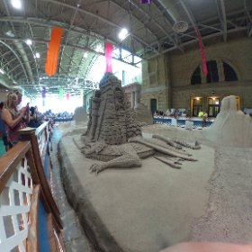Some crazy sand castles at the CNE #toronto #cne #sandcastle #theta360
