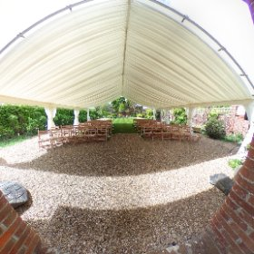 Bignor Park, the delightful Greek Loggia all set for civil ceremonies