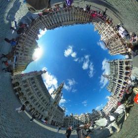 Grand Place, Brussels, Belgium  #theta360