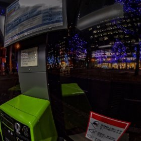 Midosuji Illuminations from Phone Booth #thetaz1 #SingleDNG #theta360