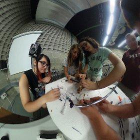Girls programming #drones at the Scientific Park of #lleida spherical photo @parcteclleida @josepc @MAGICAL_MEDIA