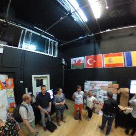 Hole RobotDance group having a tour for creativity in Chapter Art Center. #robotdance #erasmus+ #theta360