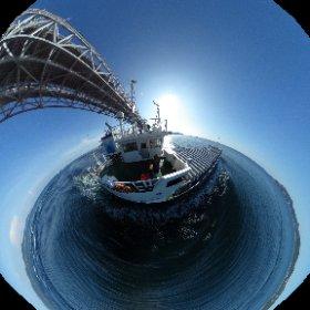 鳴門海峡通過~✨ #内航 #内航船の日 #theta360