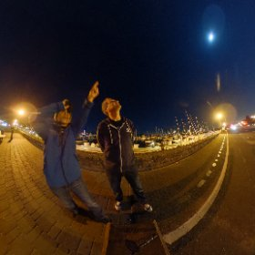 Super moon! #theta360 #theta360