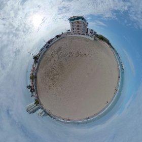 Chipipe's Beach, in Salinas city, province of Santa Elena, Ecuador.  #theta360