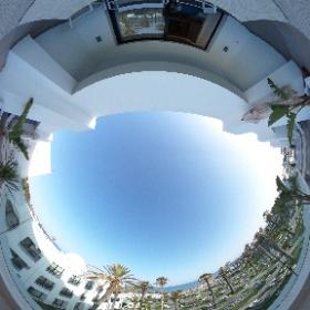 Der Merrblick von meiner Terrasse meines Zimmers im The Orangers Beach Resort and Bungalows Hammamet #DiscoverTunisia #FTItouristik #theta360