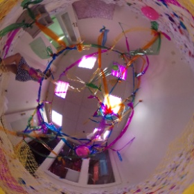 """Free Birthday Party: Camping on Venus"" Temporary art installation by Cloud Preaser in Bloomington,IN. #theta360"