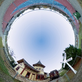 A 360° photosphere of the Chatham Railroad Museum. Move the photo around to find out where I was hiding when snapping photo with a remote app on my smart phone.  #theta360