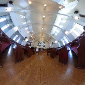 弘前学院大学礼拝堂。 ステンドグラスは1905~1907年バイエルン王国製。 パイプオルガンは1880年イギリス製。 #弘前学院大学 #弘前 #theta360