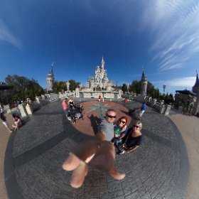 Standing in front of Cinderella's Castle 😊 #waltdisneyworld #disneyworld #theta360